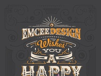 Emcee design new year poster