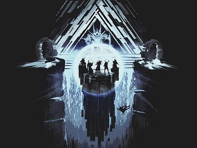 Vault Of Glass bungiedaycontest titan warlock hunter bungie game tee poster raid atheon vault of glass destiny