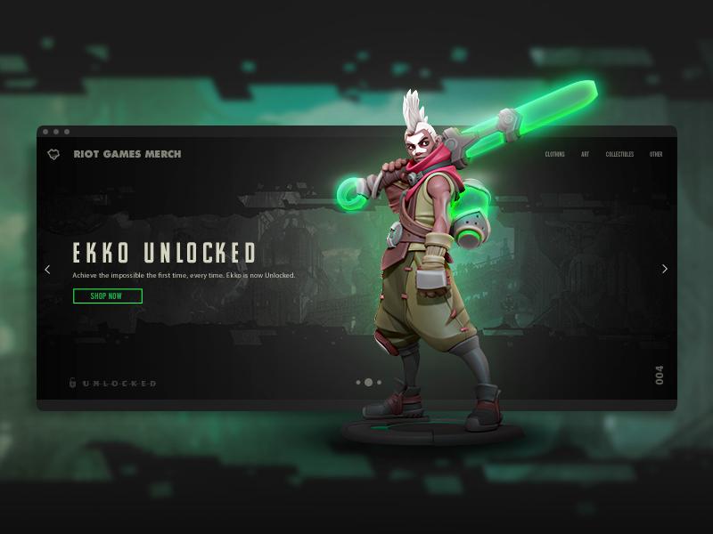 Ekko Unlocked Launch league league of legends merch riot games figure statue ekko composite interface type ui