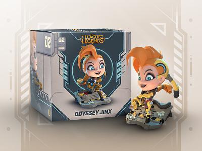 Odyssey Jinx Figure Packaging series 3 merch riot games league of legends box design box packaging figure odyssey jinx
