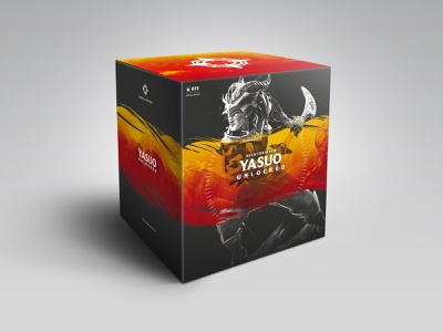 Nightbringer Yasuo Packaging design art box special edition 011 in-house consumer products riotgames league of legends dieline statue packaging unlocked nightbringer