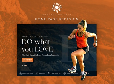 Home page design for body restoration