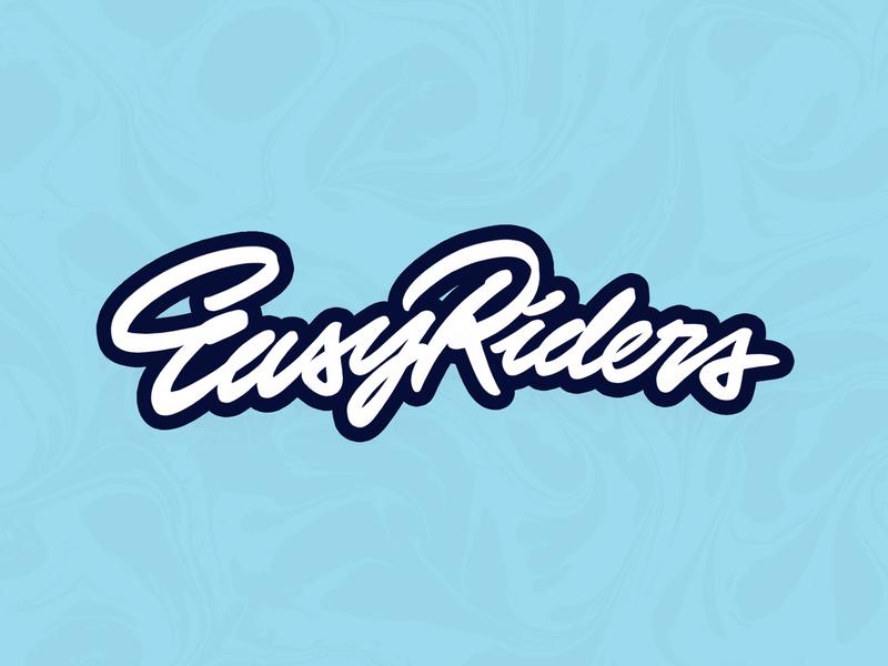 Easy riders riders freelance typography custom type branding type handlettering lettering design logotype logo