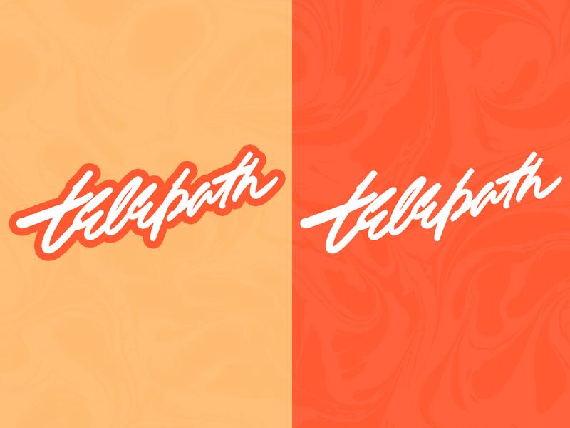 Telepath custom type freelance branding typography type handlettering lettering design logotype logo