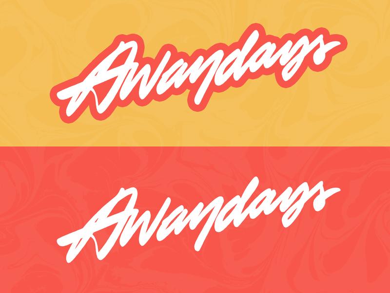 Awaydays custom type vector freelance branding typography type handlettering lettering design logotype logo