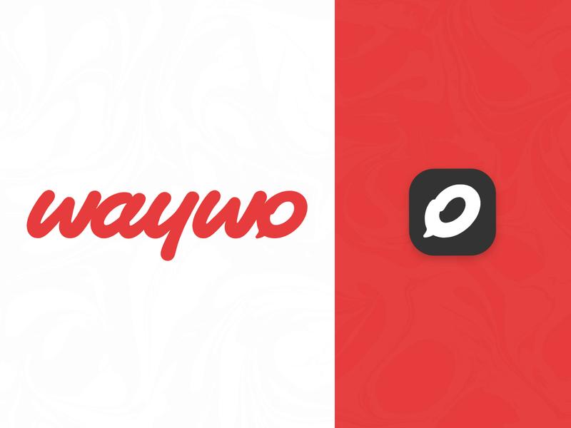 WAYWO app icon typography branding type handlettering lettering design logotype logo