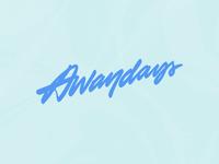 Awaydays vector typography pattern minimal logotype design logo design logo lettering graphic design design clean calligraphy branding