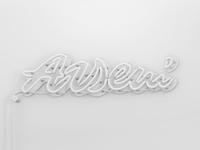 Arseni clean minimal branding illustration render lettering typography 3d design logo
