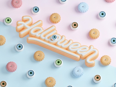 Halloween render artwork 3d art pumpkin eye haloween c4d blender3d 3d cgi illustration