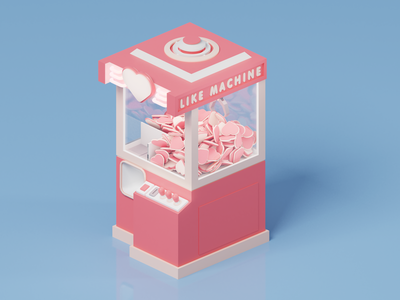 Like machine vendingmachine crane machine blendercycles blender3d blender octanerender octane design 3d abstract c4d cinema4d isometric illustration like render