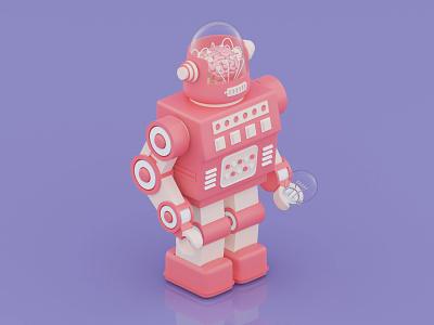 Robot3000 render vintage robot illustration isometric cinema4d c4d 3d art 3d design octane octanerender blender blender3d blendercycles