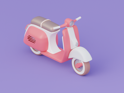 Scooter blendercycles lambretta scooter blender3d blender octanerender octane design 3d 3d art cinema4d isometric illustration