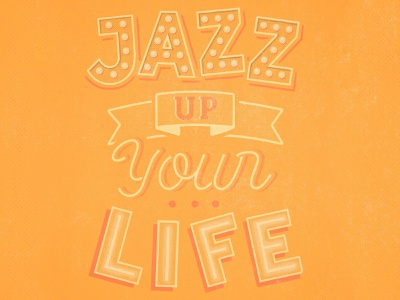 Jazz up your life jazz print print apparel tshirt design logotype handlettering typography illustration freelance design logo lettering