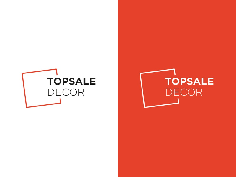 Topsale decor mark freelance vector type typography branding design logotype logo