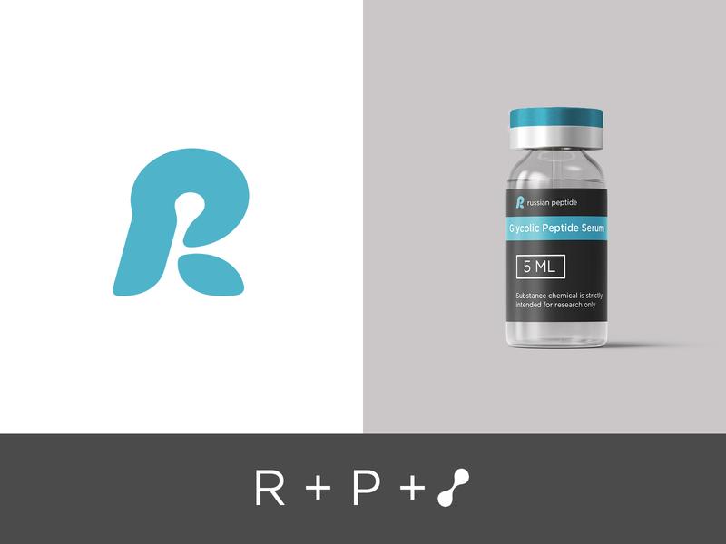 Rupep medicine mark pr rp monogram cosmetics ampoule peptide r custom type typography branding freelance vector type handlettering lettering design logotype logo
