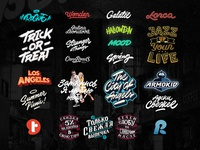 Lettering and logotypes set 3