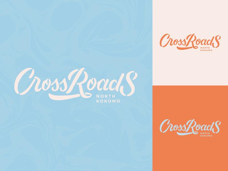Cross Roads branding логотип custom type typography type handlettering lettering design logotype logo