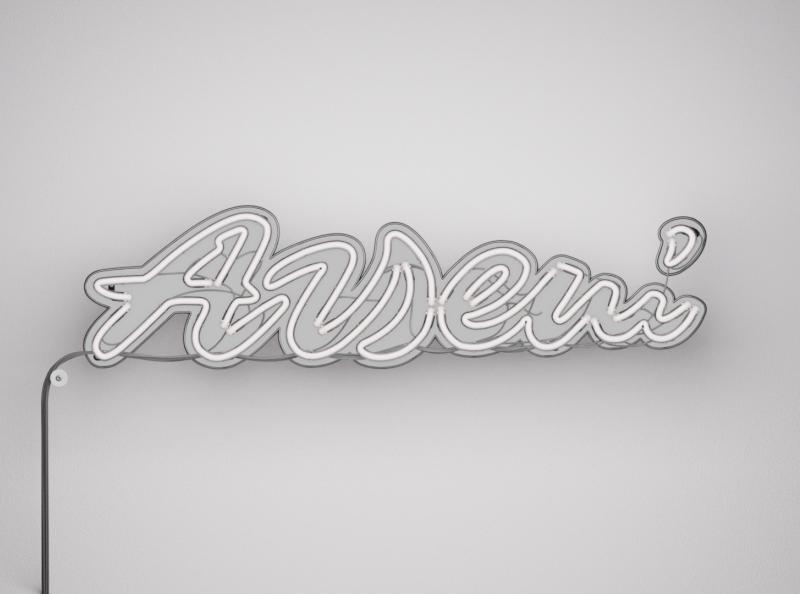 Arseni логотип freelance illustration custom type neon typography branding 3d type handlettering lettering design logotype logo