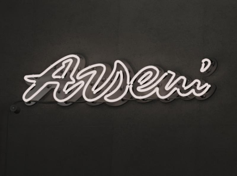 Arseni blender3d illustration custom type typography branding type handlettering lettering design logotype logo neon sign 3d