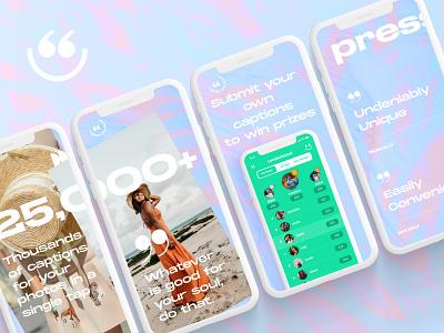 Energetic App Screnshots breezy cap app marketing energetic screenshots app store
