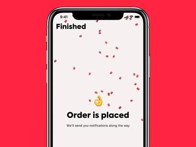Foodgrab Order animation