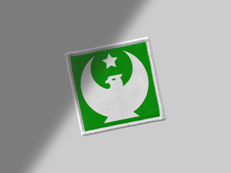 Islam in Poland Patch wings white vector tolerance symbol star solidarity poland mark logo islam history green fusion freedom exhibition emblem eagle design crescent