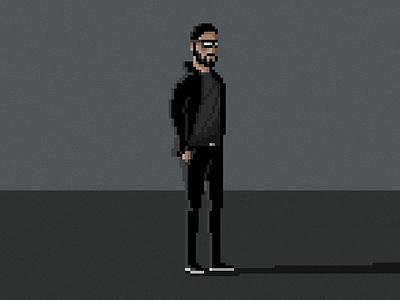 Pixelated Me pixelated pixel pixelart pixel art illlustration character game man cool 8bit retro grey