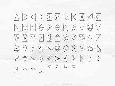 Triose font line mountain triangle concept tron futuristic alien grey polygon typography science