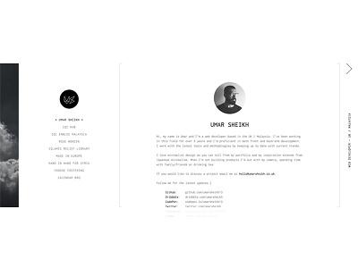 Portfolio whitespace web redesign ux ui website clean designer developer gallery portfolio minimal