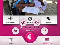 Charity App concept design