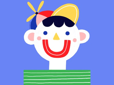 Happy Chappy midcenturymodern happy character design colour design illustration