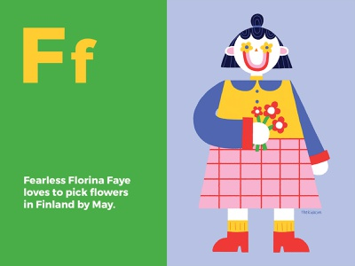 Florina Faye childrens illustration alphabet book art photoshop midcenturymodern illustration happy design colour character design