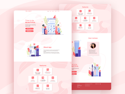 Landing for app minimal flat vector illustration app web ux ui landing page design design