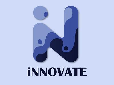 iNNOVATE flat illustration vector branding logo illustrator minimal product design icon design