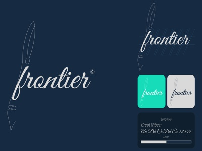 Frontier Pen Logo product design branding flat vector logo illustrator illustration icon minimal design