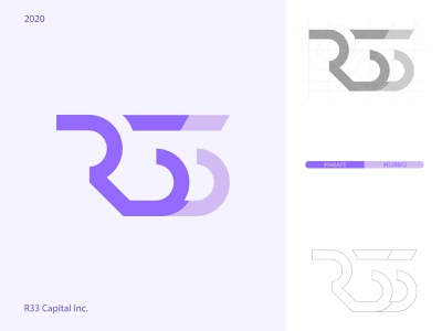 R33 Capital Inc. Logo logo design branding logo design concept logo design logos logodesign logotype branding flat illustrator logo design minimal icon vector