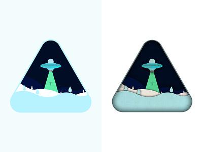 UFO just for fun adobe photoshop adobe illustrator identity news icon design logo ufo 3d art web illustrator illustration flat vector icon minimal design