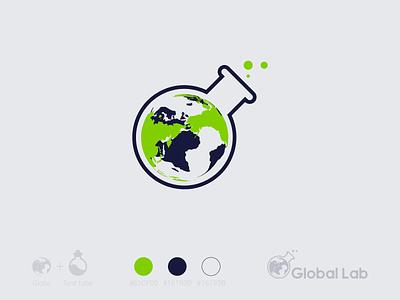 Global Lab brand identity brand design logoset logosketch logo design logotype logodesign product design branding illustration logo illustrator vector flat design minimal