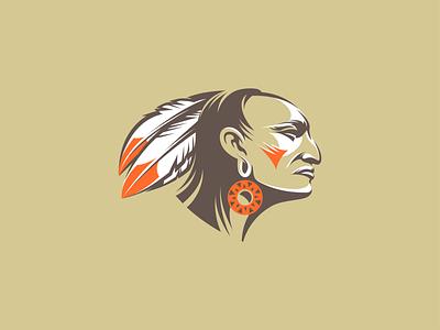 Indian red man for sale vector illustration graphic design logo design