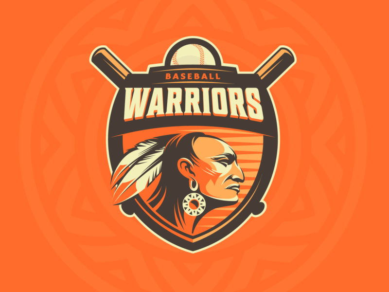 Warriors for sale vector illustration graphic design logo design warrior baseball