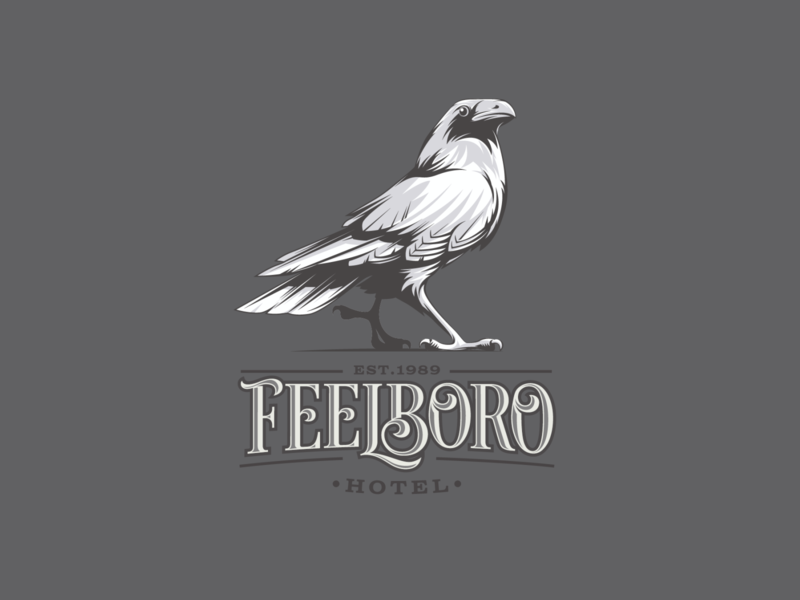 FEELBORO for sale vector illustration graphic design logo design