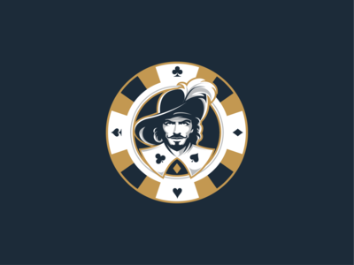 Musketeer vector illustration graphic design logo design poker musketeer