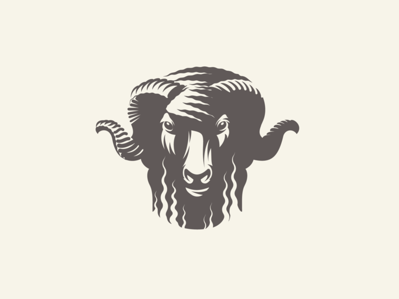 Bāxa sheep ram adobe illustrator vector illustration graphic design logo design longhorn sheep
