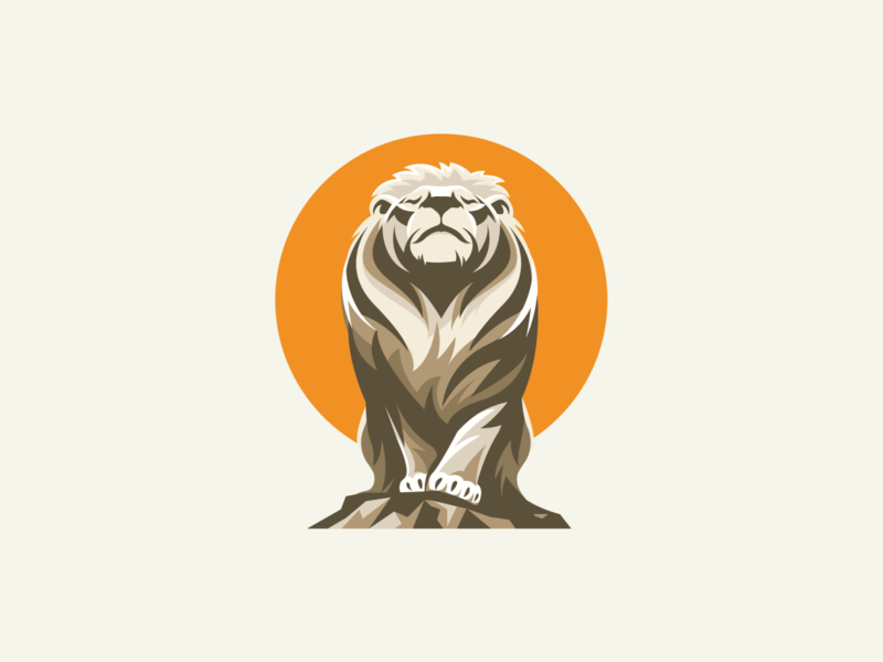 Live & Dare adobe illustrator vector illustration graphic design logo design meditation lion