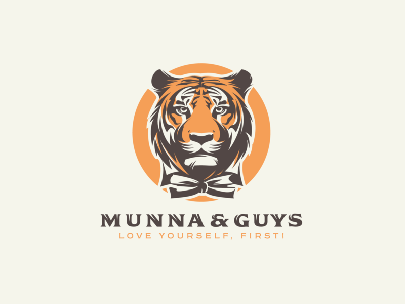 MUNNA & GUYS adobe illustrator vector illustration graphic design logo design tiger