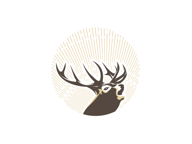 deer2 vector adobe illustrator graphic design for sale deer illustration deer head illustration logo design deer logo deer
