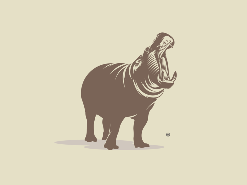 hippo vector adobe illustrator print design print for sale illustration logo design behemoth hippo hippopotamus