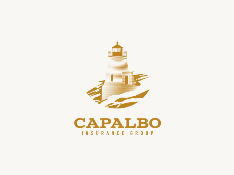 Capalbo Insurance Group vector adobe illustrator for sale graphic design logo design lighthouse logo lighthouse