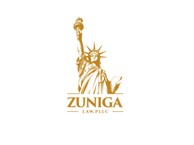 Zuniga Law  PLLC adobe illustrator graphic design illustration vector logo design law firm liberty statue of liberty