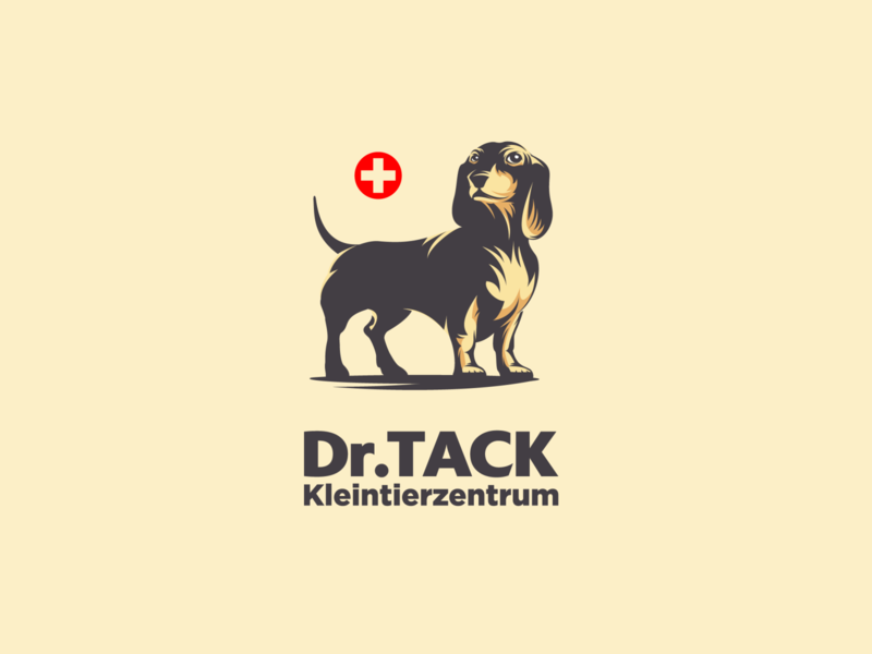 dr.Tack graphic design adobe illustrator for sale vector illustration logo design dog illustration veterinary clinic clinic dog